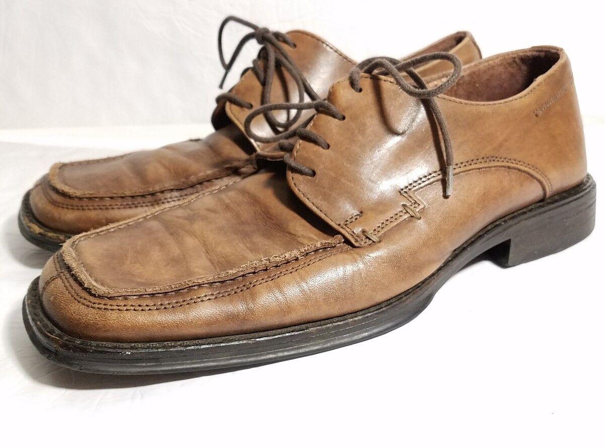Bostonian Men's Brown Oxford Dress Shoe Toe Sz: 10 M Square Toe Shoe Leather 28949 010157