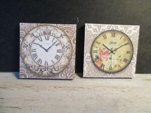 2 Maison De Poupées Miniature Horloges Dnu5-afficher Le Titre D'origine Design Moderne