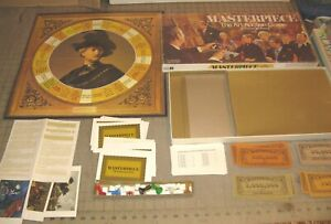 1970 MASTERPIECE The Art Auction Board Game - Seems Complete - Scarce - Yowza