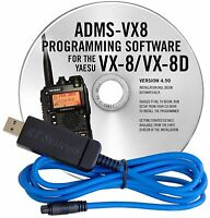 Yaesu VX-8DR Programming Software & USB Cable Set ADMS-VX8