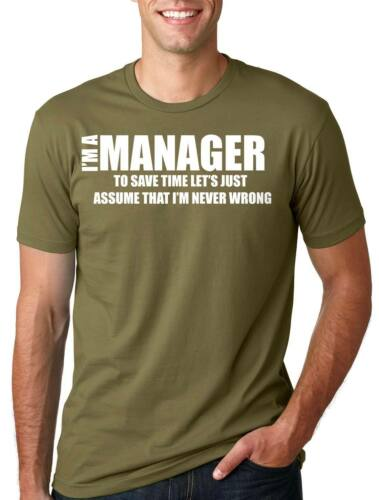 Manager T-shirt Funny Manager Tee shirt T-shirt Gift for Manager