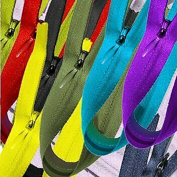 """12 Zippers//pack YKK Conceal ~ Invisible Assortment of Colors 12/"""""""