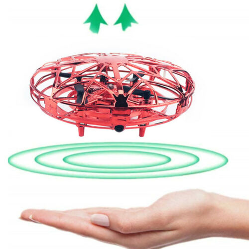 Mini Drone Hand-Controlled Helicopter Toy UFO LED Aircraft Quadcopter Flying Toy
