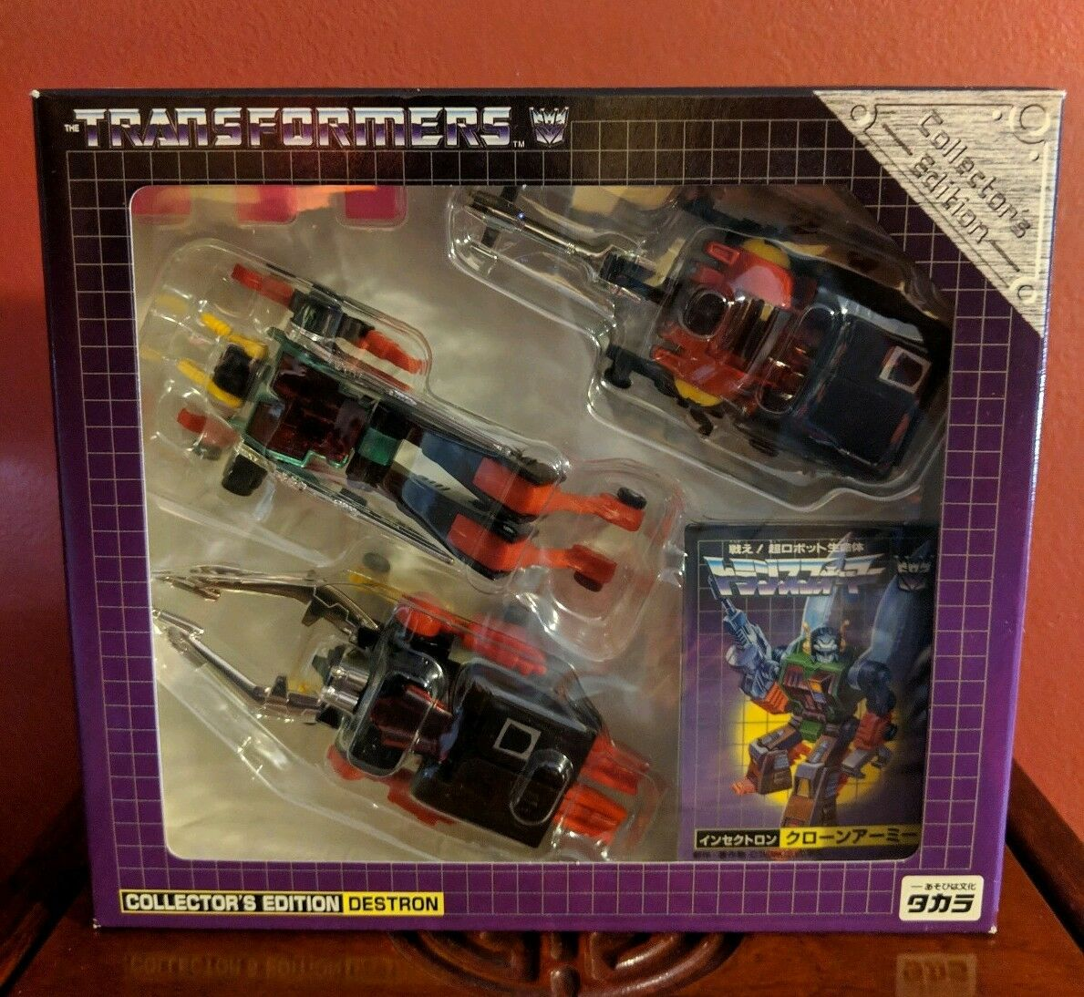Takara Transformers e-Hobby G1 Diaclone Insecticons Collector's Edition