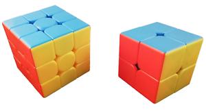 Zauberwürfel Set MoYu Meilong 2x2 stickerless + Meilong 3x3 stickerless neu
