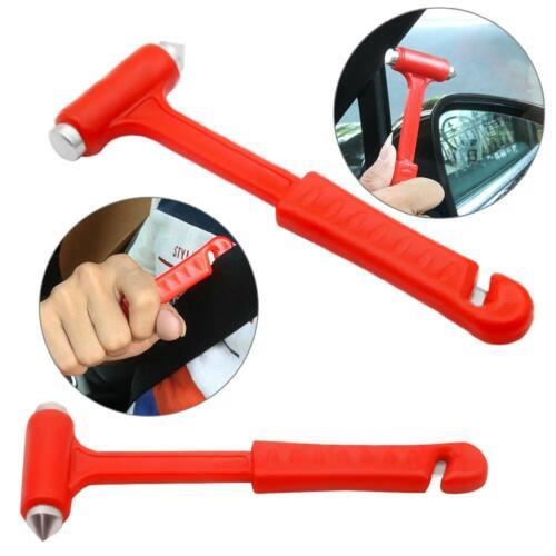 2 in 1 Mini Car Safety Hammer Life Saving Emergency Hammer Seat Belt Cutter HY#U