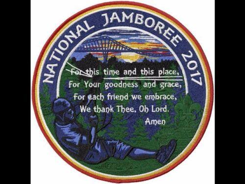 """2017 Boy Scout Jumbo Jacket Patch National Jamboree 8/"""" Summit Grace Prayer World"""