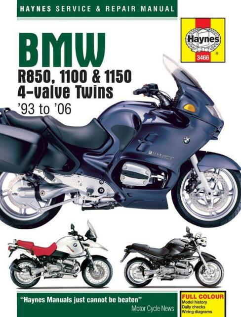 BMW R1100 R1100GS R1100R R1100RT R1100S R1100SS 1999-2004 Haynes Manual NUEVO
