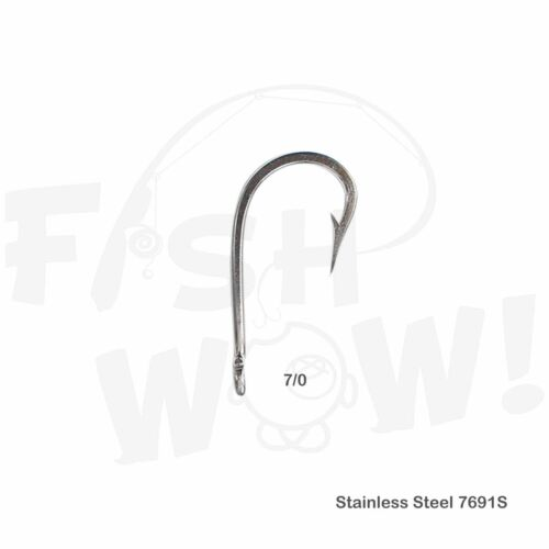 7691S Stainless Steel Hook Size 7//0 Select from Qty 2 5 10 15 50 100 Fish WOW