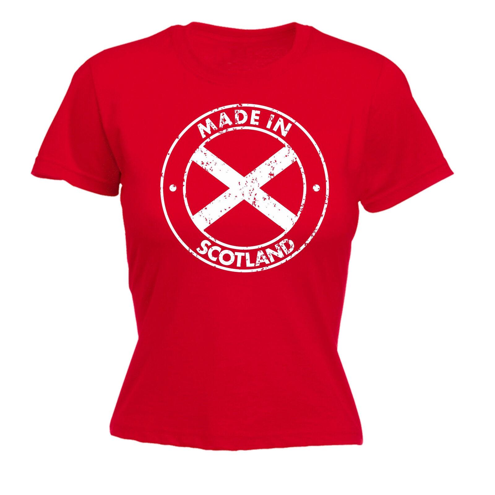 Made In Scotland WOMENS T-SHIRT Scot Country Scots Scottish UK Gift birthday