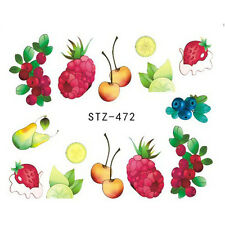 Nail Art Stickers Water Decals Transfers Juicy Fruits (DS472)