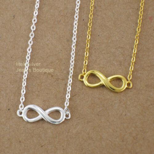 Halskette Anhänger Unendlichkeit 925 Sterling Silber Kette Damen Schmuck A2696