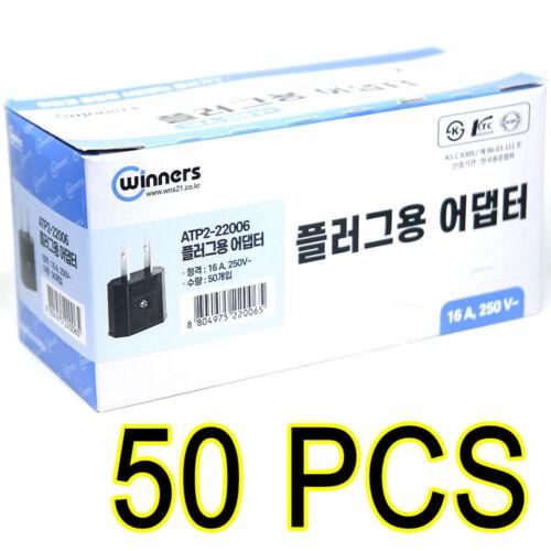 50pcs 110V plug adapter EU to USA// travel adapter// converter 220V to 110V