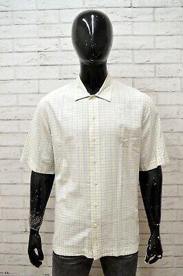 Camicia Timberland Uomo Taglia L Maglia Shirt Man Manica Corta A Quadri Regular