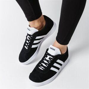 Details about NEW ADIDAS VL COURT 2.0 Kids Boys women Black White Sneaker Skate shoes DB1827
