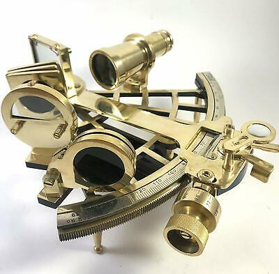 """Reproduction Tamaya Brass Nautical Fully Working 9/"""" Navigation Antique sextant"""
