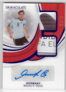 Mesut Özil  2018-19 Panini Immaculate Collection Soccer 09/10 Patch Auto