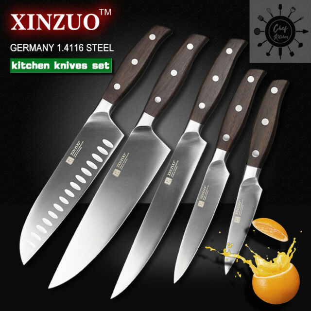 5Pcs Set Knives Inches Chef Knife Layers Japanese Damascus Steel Kitchen  Sharp