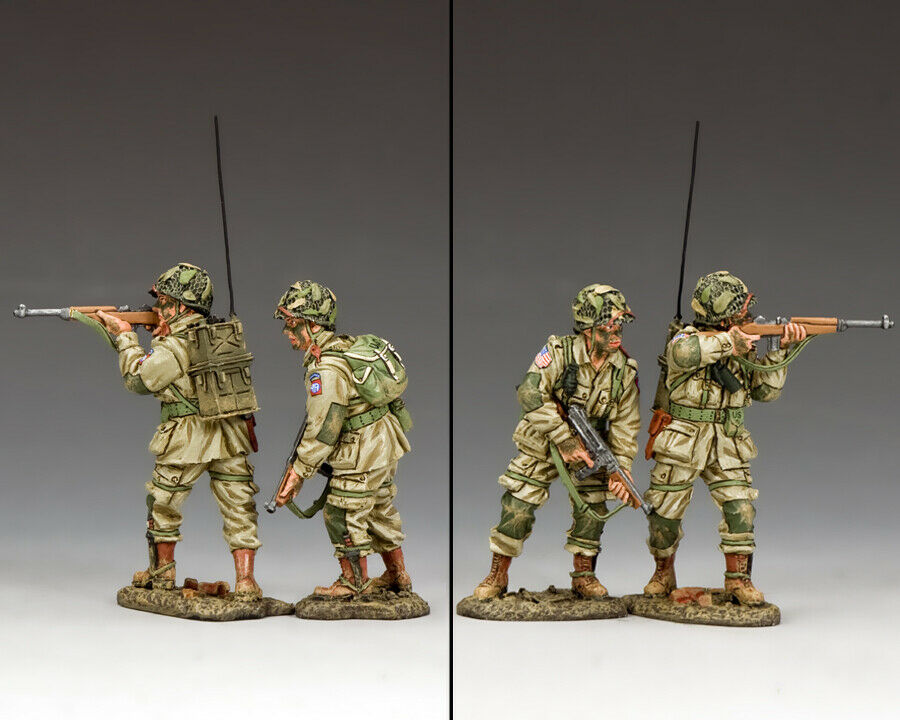 KING & COUNTRY D DAY DD285-1 U.S 82ND AIRBORNE COVERING FIRE MIB