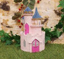 Vivid Arts Miniature World Fairy Pixie Garden Forest House Pink Princess Castle