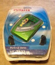 Aiwa HS-TA32 AM/FM Stereo Cassette Player Super Bass Green NEW factory sealed