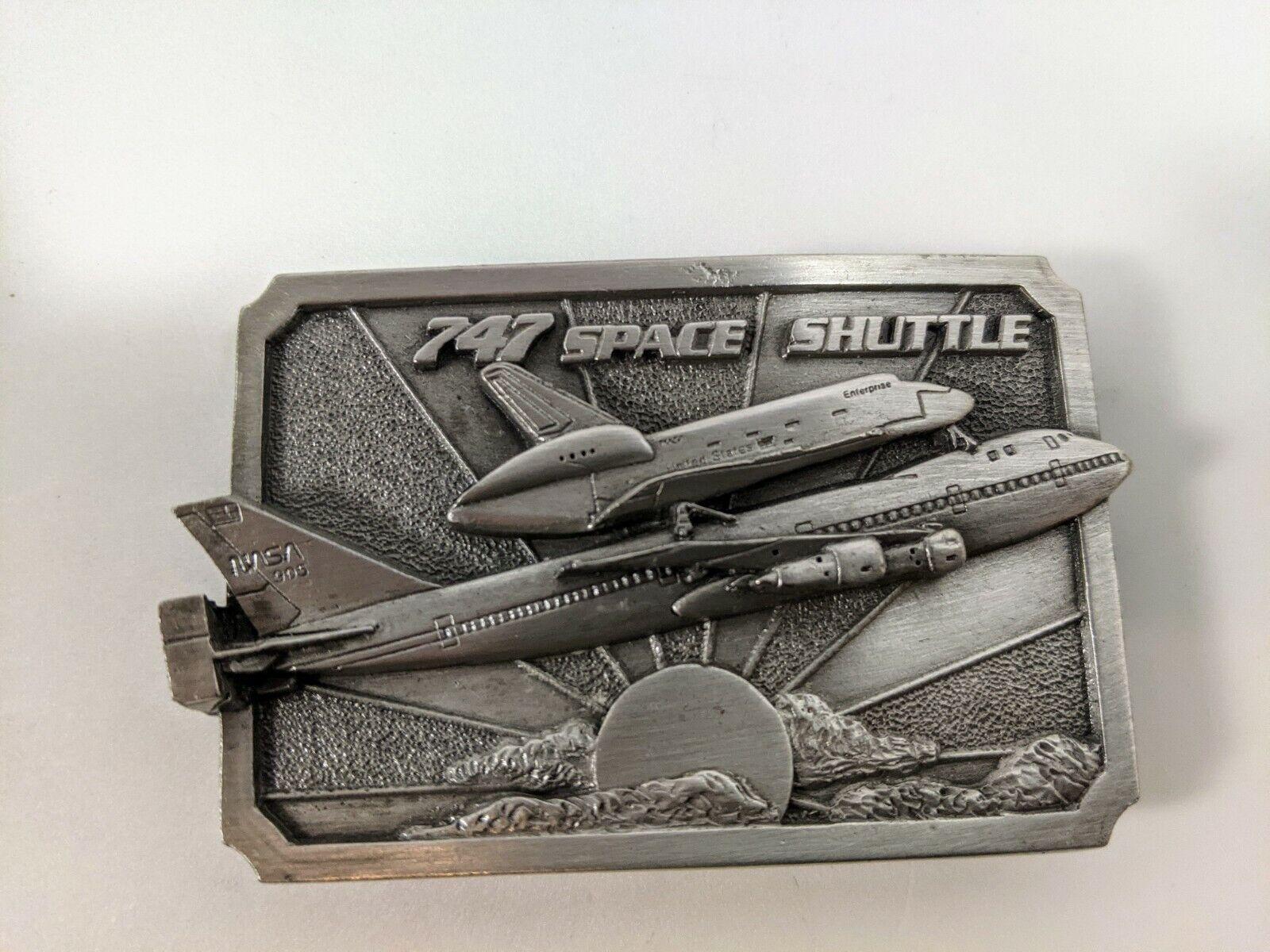 Boeing 747 Space Shuttle NASA Enterprise Belt Buckle 1983 Aviation by Siskiyou