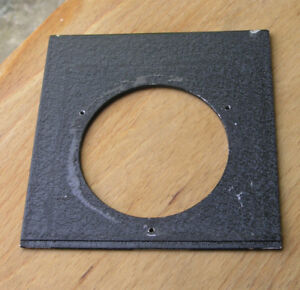 early-Linhof-Lens-board-panel-64mm-hole-105-8-x-107-7-compur-3