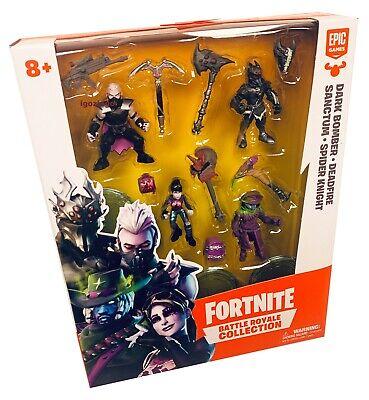 Fortnite Battle Royale Collection Dark Bomber Deadfire Sanctum Spider Knight New