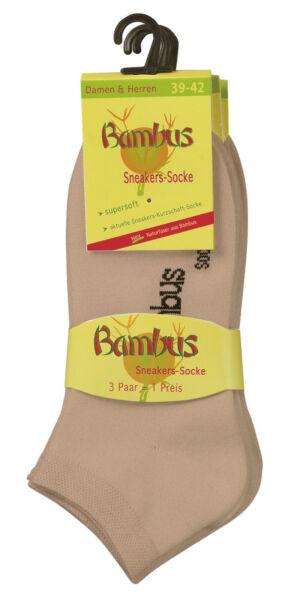 3-15 Paar Bambus Sneaker Socken Sneakersocken für Damen Herren WO
