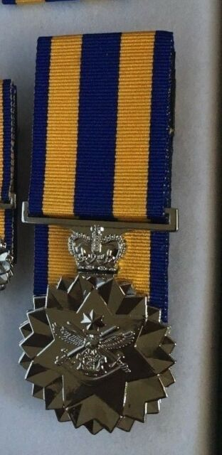 Replica Defence Force Service Medal Mounted Full size