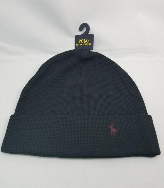 2a70b68fef1 Polo Ralph Lauren Men Beanie Thermal Cuff Hat 100 Cotton One Size ...
