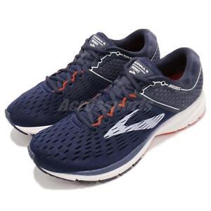e917b3ad20962 Brooks Ravenna 9 Navy White Orange Men Running Training Shoes 110280 ...
