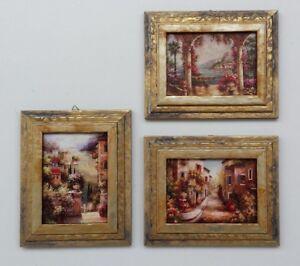 c5320cb715 Lotto 3 Stampe con Cornice - 21x26 cm. - Quadri Paesaggio ...