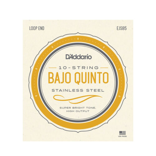 D/'Addario EJS85 Bajo Quinto Stainless Steel Strings