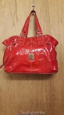 Dooney Bourke red patent leather Chiara handbag purse satchel