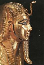 Alte Kunstpostkarte - Museum Kairo - Masque funéraire du Pharaon Psousennès