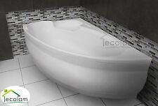 Badewanne Wanne Eckwanne eckig Acryl 170 x 110 cm Schürze Ablauf Silikon links