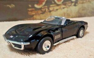 1969 Corvette Stingray >> Details About Superior 1969 Chevrolet Corvette Stingray Convertible Diecast Toy Car 1 32 Black