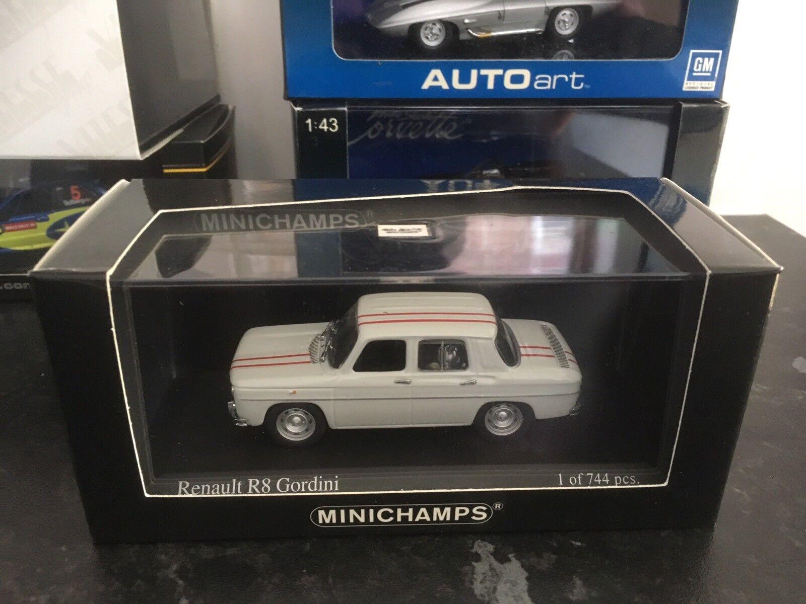 Minichamps Renault R8 Gordini White 1 43 MIB Ltd Ltd Ltd Ed Of 744 Only V.Rare 1964 133864