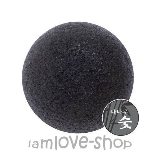[Missha] Natural Soft Jelly Cleansing Puff Konjac (Bamboo Charcoal) Skin Care