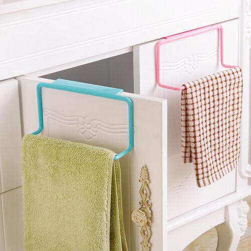 Over Door Towel Rack Holder Bathroom Cabinet Shelf Rack Bar Kitchen Storage