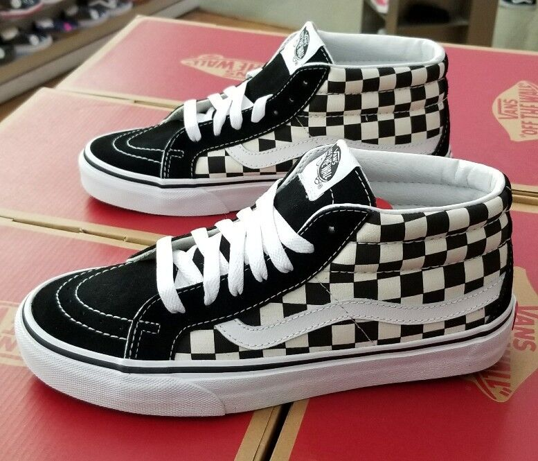 VANS SK8-MID REISSUE CHECKERBOARD/TRUE WHITE VN0A391FQXH MEN SZ 6 (WOMEN 7.5)