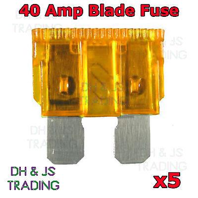 40 AMP blade fuses for car motorbike van New 40A standard fuses pack of 10