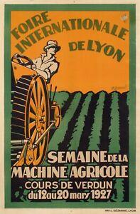 Affiche-Originale-Burnoud-Foire-Internationale-Agricole-Lyon-Verdun-1927