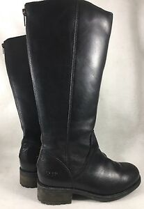 3f4bc89bb51 Ugg Australia Seldon Black 1006038 Leather Knee High Water Resistant ...