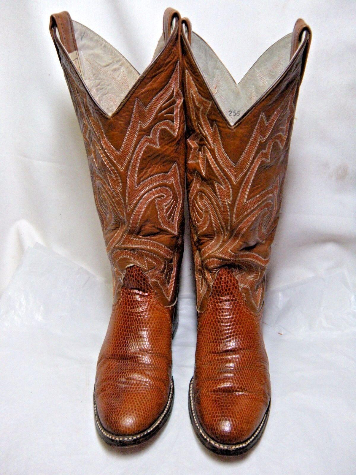 Larry Mahan's Womens Rare Oval Lizard Lizard Lizard Cowboy Boots Size 5.5 B Spice    67 OB ee469e