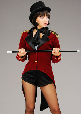Womens Greatest Showman Style Ringmaster Costume INCLUDES JACKET AND COLLAR ONLY