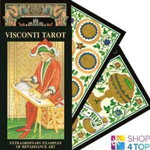 VISCONTI-TAROT-DECK-KARTEN-ESOTERIC-FORTUNE-TELLING-LO-SCARABEO-NEU