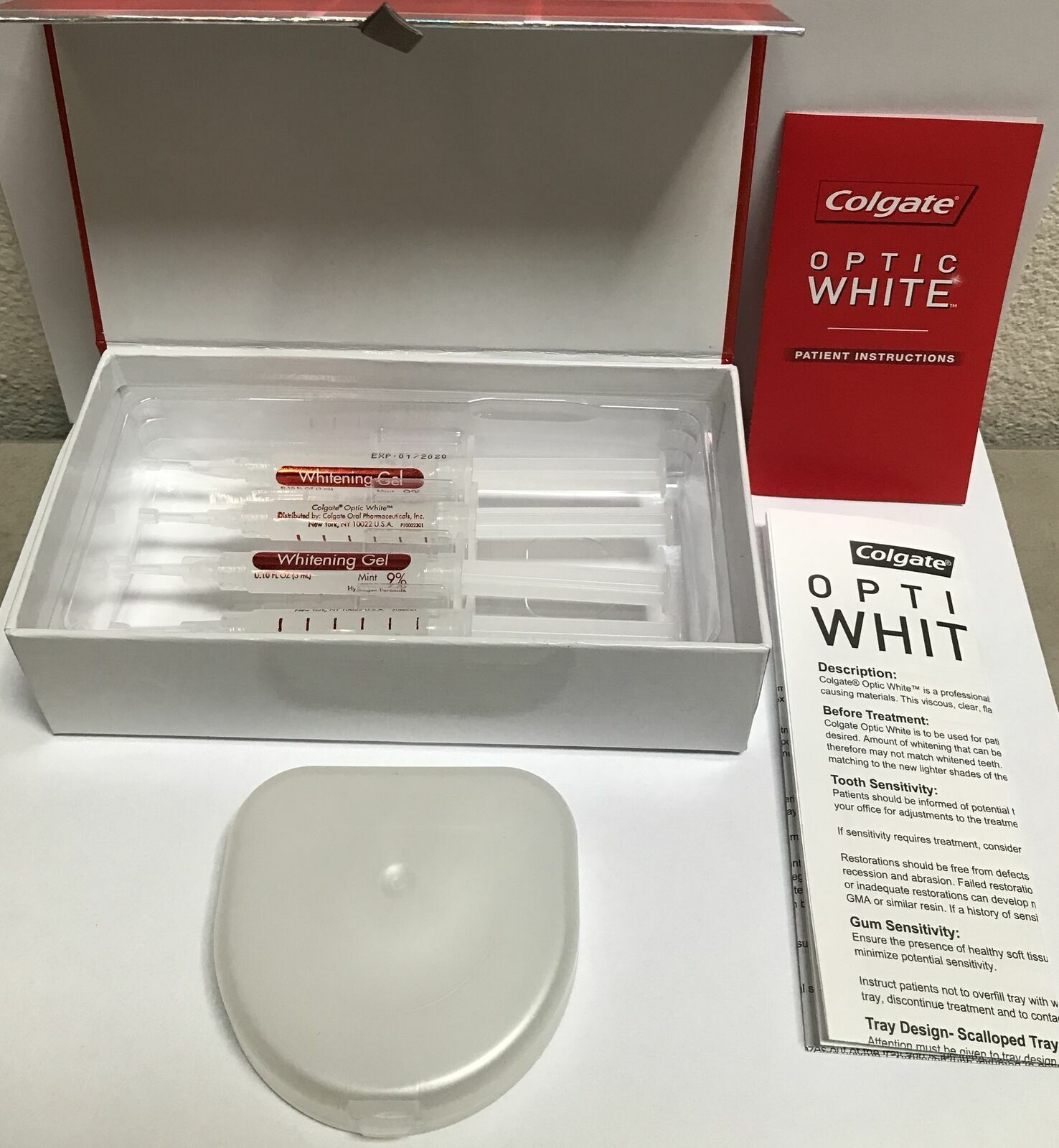 Colgate Optic White Gel Professional Whitening Take Home Kit 9 For Sale Online Ebay