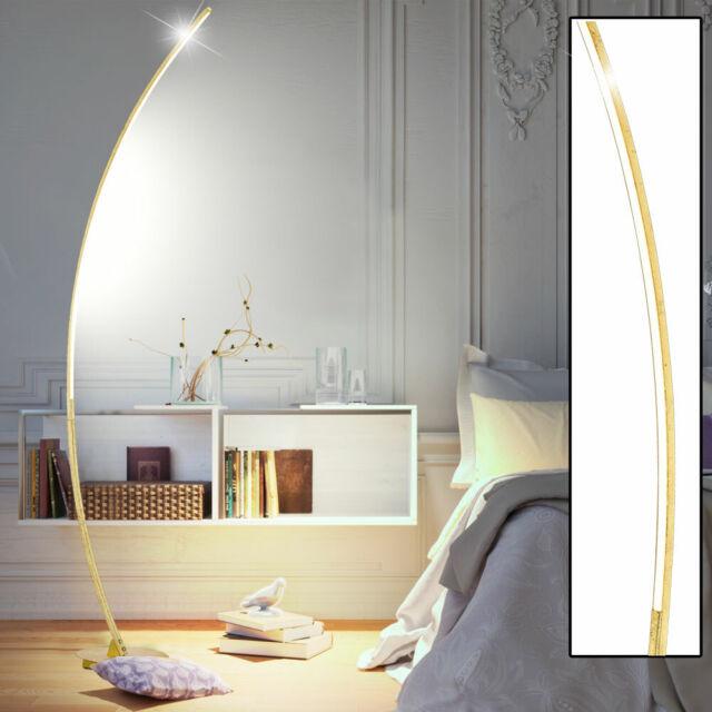 Luxus Bogen Steh Lampe Wohn Ess Schlaf Lese Zimmer Stand Leuchte SCHWARZ-GOLD